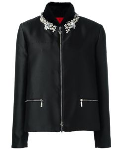 Moncler Gamme Rouge   Embellished Puffer Jacket Womens Size 3 Mink