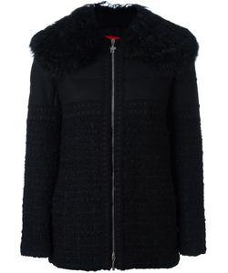 Moncler Gamme Rouge   Embellished Fur Trimmed Jacket Womens Size 1