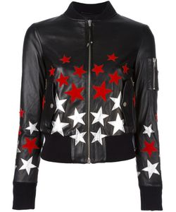 Htc Hollywood Trading Company | Star Patch Bomber Jacket Womens Size Medium