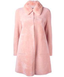 Blancha | Single Breasted Fur Coat Womens Size 42 Sheep Skin/Shearling/Rabbit
