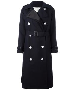 The Reracs | Double-Breasted Trench Coat Womens Size 40 Cotton/Polyester/Silk/Cupro