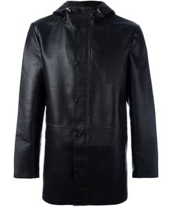 Desa | 1972 Hooded Coat Mens Size 50 Leather/Wool/Polyester