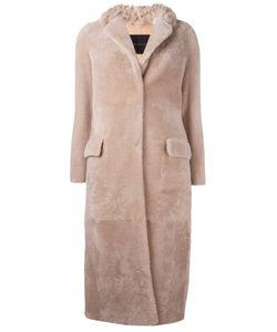 Blancha | Single Breasted Coat Womens Size 42 Merino/Sheep Skin/Shearling