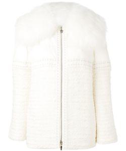 Moncler Gamme Rouge   Embellished Fur Trimmed Jacket Womens Size 0