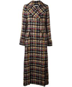 Alessandra Rich | Double Breasted Long Coat Womens Size 40 Viscose/Cupro/Wool/Cotton