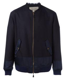 Casely-Hayford | Frayed Neck Bomber Jacket Mens Size 40 Wool/Nylon/Cupro