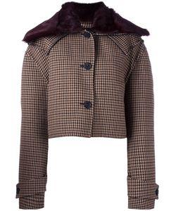 Yang Li | Cropped Jacket Womens Size 42 Virgin Wool/Polyamide/Viscose/Rabbit Fur