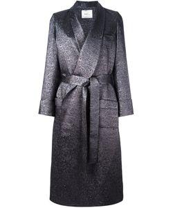 Racil | Velvet Lapel Long Coat Womens Size 38 Polyethylene/Viscose/Acrylic/Metal