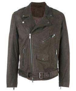 Desa | 1972 Ginevra Biker Jacket Mens Size 48 Leather/Viscose/Acetate
