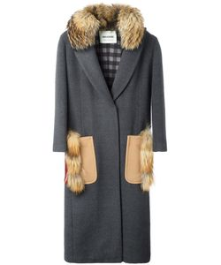 Ava Adore | Poppy Coat Womens Size 42 Virgin Wool/Cashmere/Racoon Fur/Cotton
