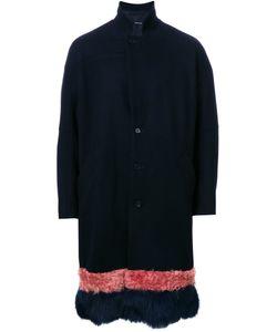 Yoshio Kubo | Furred Hem Coat Mens Size 2 Wool/Cashmere