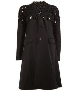 Comme Des Garçons Noir Kei Ninomiya | Woven Detail Buttoned Coat Womens