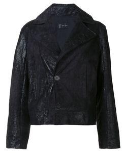 Judson Harmon | Cropped Moto Jacket Womens Size Medium Lamb Skin/Aluminium