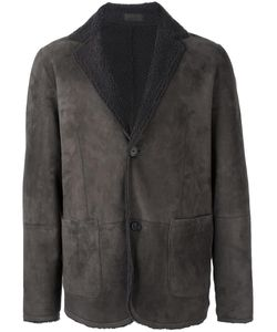 Desa Collection | Button Front Jacket Mens Size 54 Sheep Skin/Shearling
