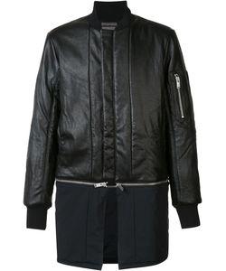 Siki Im | Detachable Bomber Jacket Mens Size Large Nylon/Leather