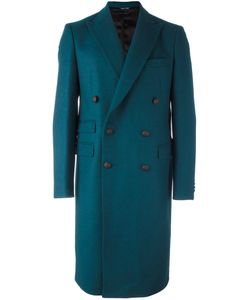 Andrea Pompilio | Classic Double Breasted Coat Mens Size 50 Virgin