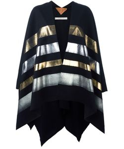 Ermanno Gallamini | Striped Cape Womens Virgin Wool/Cashmere