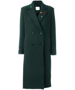 Mira Mikati | Lapel Detailing Double-Breasted Coat Womens Size 38 Cotton/Polyamide/Virgin