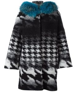 Ava Adore | Margaret Coat Womens Size 42 Racoon Fur/Cotton/Virgin Wool/Polyester
