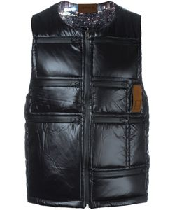 Letasca   Quilted Zipped Vest Mens Size Small Nylon
