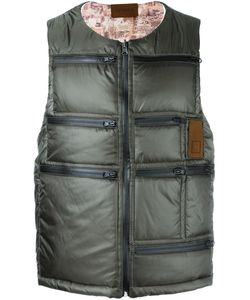 Letasca   Quilted Zipped Vest Mens Size Large Nylon