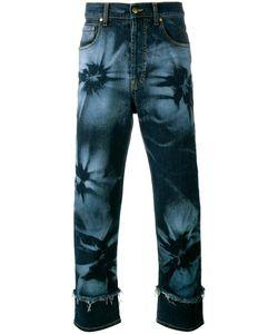 James Long | Hibiscus Print Jeans Mens Size 38 Cotton/Spandex/Elastane