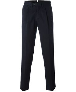 Borrelli | Classic Tapered Trousers Mens Size 54 Cotton/Polyester/Virgin Wool