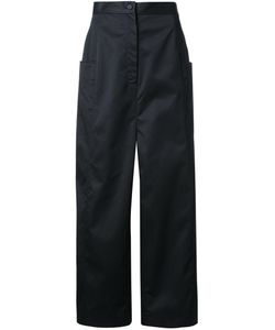 Anrealage | Wide Leg Cropped Trousers Womens Size 36 Cotton
