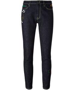 Mira Mikati | Embroidered Rocket Skinny Jeans Womens Size 40 Cotton/Spandex/Elastane