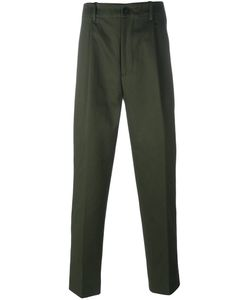 Casely-Hayford | Pleated Tapered Trousers Mens Size 38 Cotton/Cupro