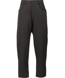Ziggy Chen | Drop-Crotch Trousers Mens Size 46 Linen/Flax/Wool/Cotton