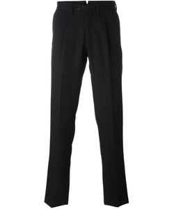 Borrelli | Pleated Detailing Tailored Trousers Mens Size 46 Virgin Wool/Cotton/Polyester