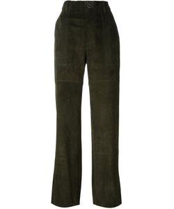 Stouls | Tabrouk Velours Trousers Womens Size Small Lamb Nubuck Leather/Cotton/Lyocell/Spandex/Elastane