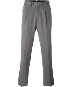 Borrelli | Pleated Detailing Tailored Trousers Mens Size 50 Virgin Wool/Cotton/Polyester