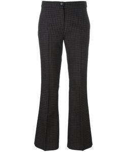 Yang Li | Checked Flared Trousers Womens Size 40 Virgin Wool/Viscose