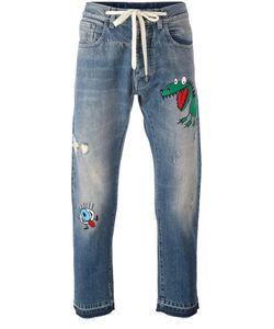 Andrea Pompilio | Embroidered Detail Jeans Mens Size 52 Cotton