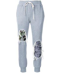 Mihara Yasuhiro   Miharayasuhiro Distressed Track Pants Womens Size 38 Cotton