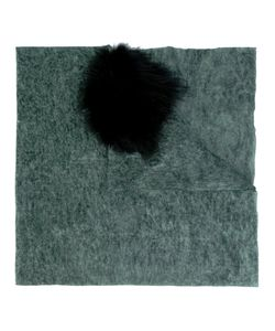 Cutuli Cult | Possum Fur Panel Tweed Shawl Womens Nylon/Wool/Possum Fur
