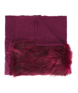 Cutuli Cult | Fur Panel Tweed Shawl Womens Nylon/Wool/Possum Fur