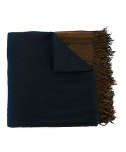 Suzusan | Frayed Stripe Effect Scarf Mens Cashmere/Silk