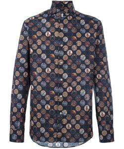 Gabriele Pasini | Mystic Printed Shirt Mens Size 42 Cotton