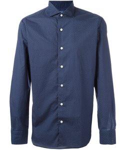 Barba | Polka Dot Shirt Mens Size 40 Cotton