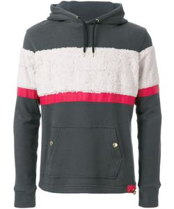 Education From Youngmachines | Textured Stripe Hoodie Mens Size 2 Cotton