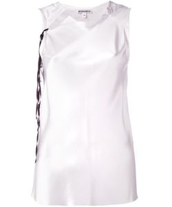 Ann Demeulemeester Blanche   Sleeveless Collar Cutout Blouse Womens Size 38