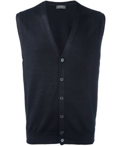 Barba | V-Neck Knit Vest Mens Size 54 Cotton