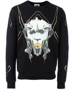 Les Hommes Urban   Mask Printed Sweatshirt Mens Size Medium Cotton