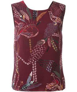 Hope   Bird Print Blouse Womens Size 34 Lyocell