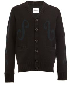 The Soloist | Embroidered Button Cardigan Mens Size 46 Cashmere