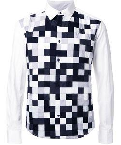 Anrealage | Noise Patchwork Shirt Mens Size 46 Cotton