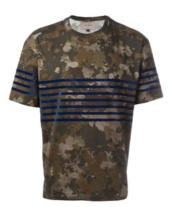 Casely-Hayford | Camouflage Print T-Shirt Mens Size Small Cotton